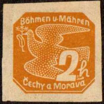 1937 - Czechoslovakia (Bohemia & Moravia) Newspaper Stamps