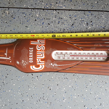 Thermometer Die Cut Bottle - Rare Amber Version