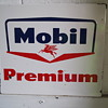 Mobil Premium Gasoline Pump Sign with Pegasus