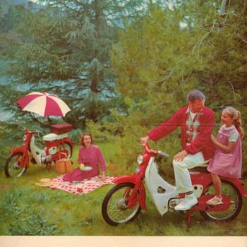 "1962 - Honda ""50"" Sales Brochure / Poster - Paper"