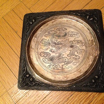 Vintage chinesse silver tray  - Asian