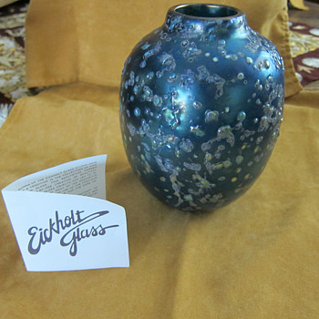 Eickholt Glass Vase ??dichroic glass?? - Art Glass