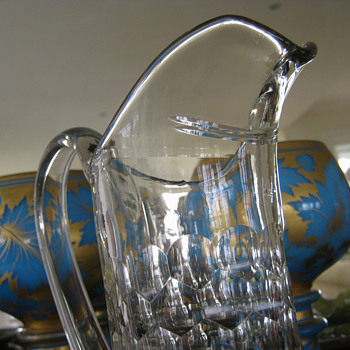 LOVELY OLD GLASS JUG