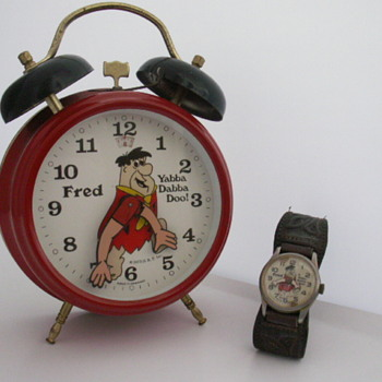 Fred Flintstone Alarm Clock & Wrist Watch