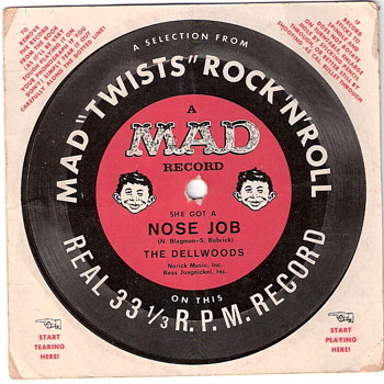 Mad Magazine Record - Mad Twists Rock &#039;N&#039; Roll