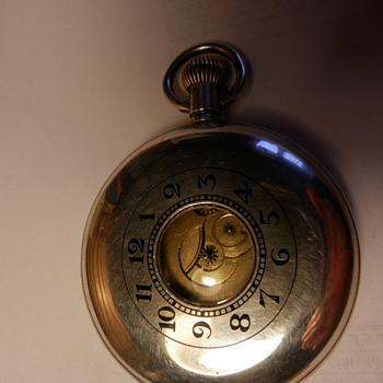 Silver Half-Hunter Swiss-Made Pocket Watch, Circa 1927.