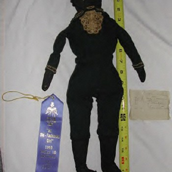 Black rag doll from Civil war era homemade  - Dolls