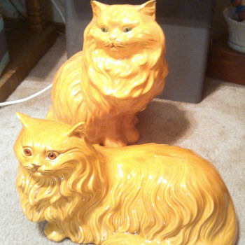 Big Orange Cat #2! - Art Pottery