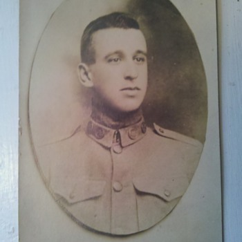 Great RPPC from @1908 **Strange collar insignia*** - Military and Wartime