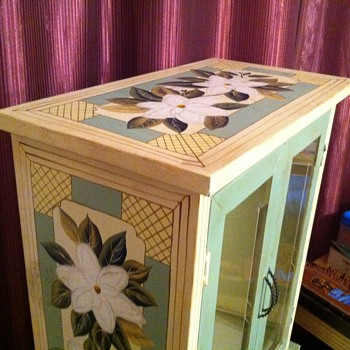 antique metal cabinet - Furniture