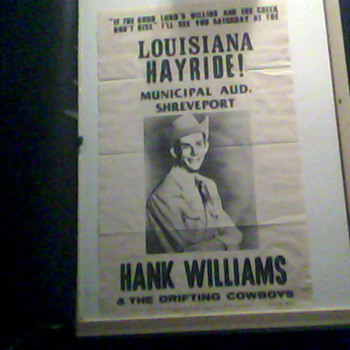  posterHank Williams 1947 louisana hayride
