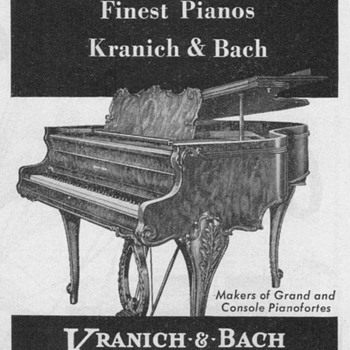 1951 - Kranich & Bach Pianos Advertisement - Advertising