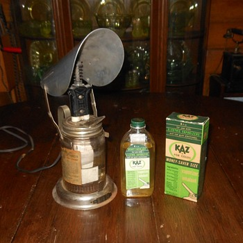KAZ for Colds Vaporizer Inhalent Bottle With Box - Advertising