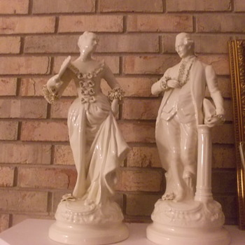 Victorian porcelain man and woman