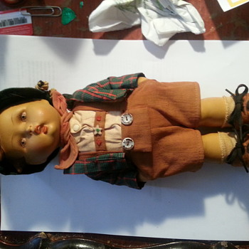 Hummel Doll ? This is a large hand painted doll that appears to be paper mache. Any Ideas, Comments Welcome