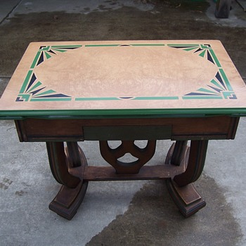 1930`s Porcelain enamel top kitchen(?) table