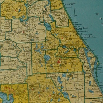 1946 FLORIDA Rand Mcnally large collectible Atlas MAP nice original
