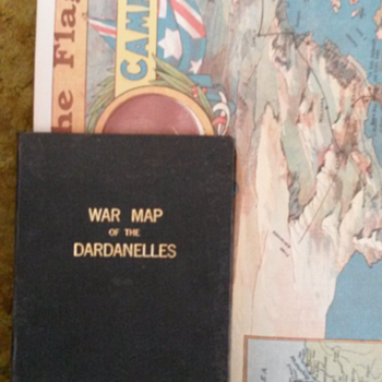 WAR MAP OF THE DARDANELLES david henry souter,for e.j.kerr - Paper