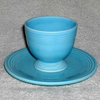 Fiestaware Egg Cup and Saucer - China and Dinnerware