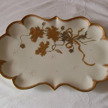 Gold Painted Plate Help With Mark - China and Dinnerware