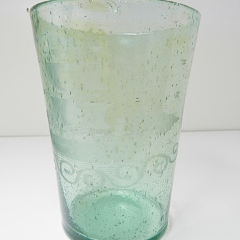 Old Cluthra-Style Art Glass - Viking Ship - Bubbles, Soda Bottle Glass - ???