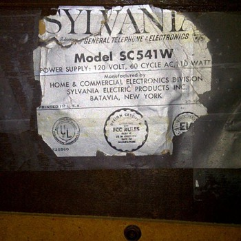1960's Sylvania am/fm phonograph. model # SC541W - Radios