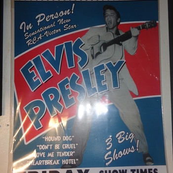 Elvis Presley 1956 Cleveland Concert Poster - Posters and Prints