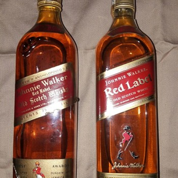 Johnnie Walker Red Label Old bottles