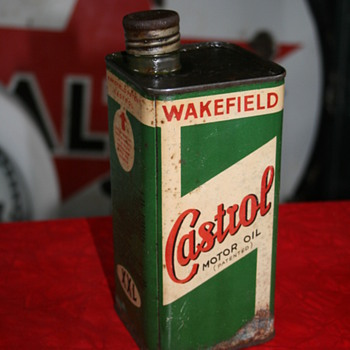 castrol oil can - Petroliana
