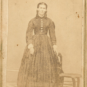CDV, Two Well Dressed Ladies, Civil War Era, or a bit beyond==And Another same photographer,