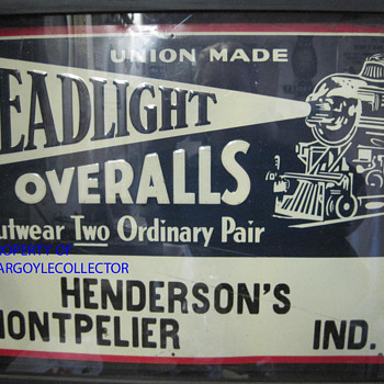 Headlight overalls sign - Signs