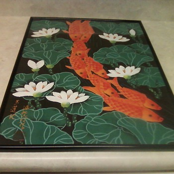 KOI FISH OIL PAINTING - Asian