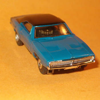 AURORA THUNDERJET 500 BLUE DODGE CHARGER H.O. SCALE