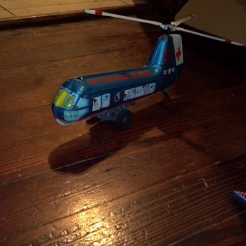Vintage Marx Air Force Rescue Battalion Helicopter - Toys