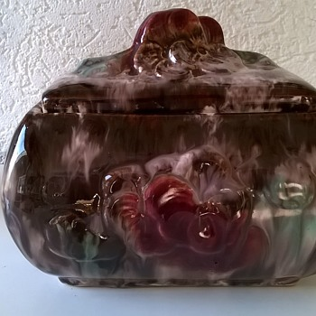 Maybe Morticia Addams Is Missing This...JASBA Germany Covered Casket Dish - Art Pottery