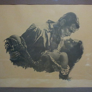 Gone With The Wind signed art.