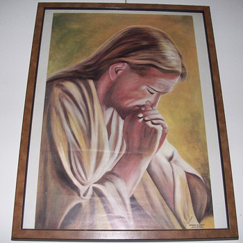 Jesus Praying Poster