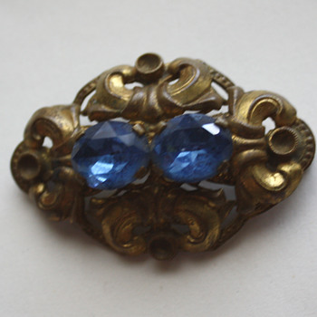 Vintage brooch II  - baby blue edition :)