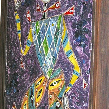 Ceramic mural of a &quot;Jester&quot;