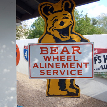 Bear Wheel Alinement Service sign - Signs