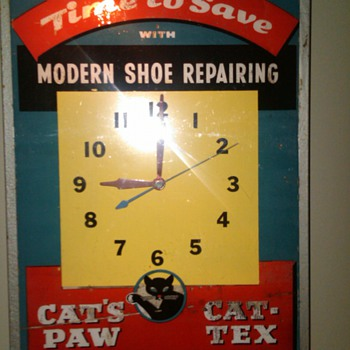 Lighted Shoe Repair Clock - Clocks