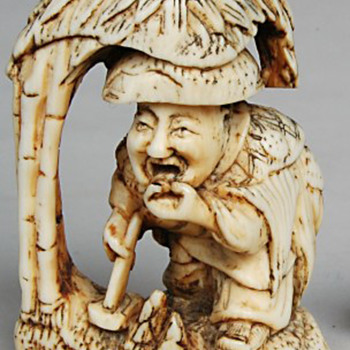 Japanese Meiji Moso Ivory Netsuke