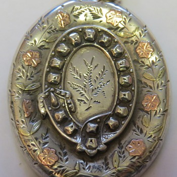 Victorian Silver Locket - Sterling Silver