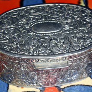 Silver Box and Sterling Silverware