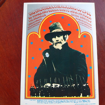1967 Big Brother & Holding Co. Bo Diddley Bukka White Concert Handbill FD77 - Music
