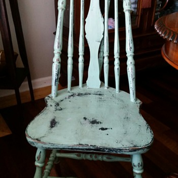 "Windsor Style Brace-Back Chair-- Late 1700 to Early 1800""s"