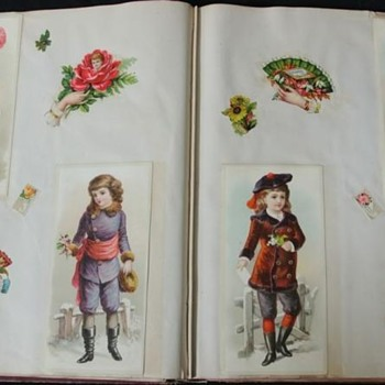 WONDERFUL OLD  1880-1900EPHEMERA ALBUM, COLORFUL DIECUTS & MORE!! - Cards