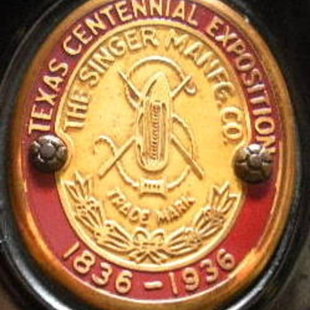 """Texas Centennial Exposition 1836-1936"" Singer Featherweight - Sewing"