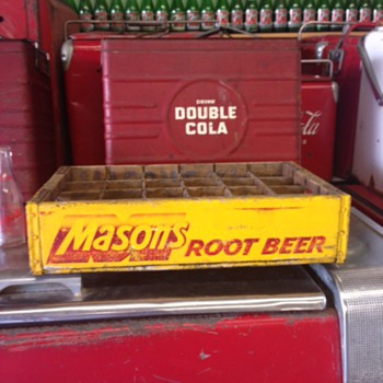 Mason's Root Beer Crate - Advertising