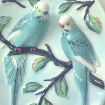 Birds-Majolica ? - Art Pottery